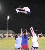Pike Basket Toss Cheerleading Stunt