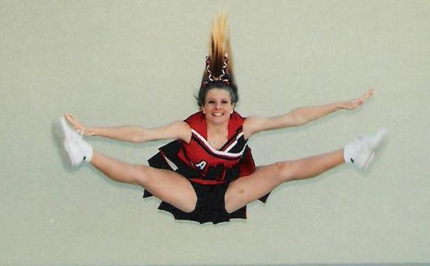 Toe Touch Cheerleading Jump