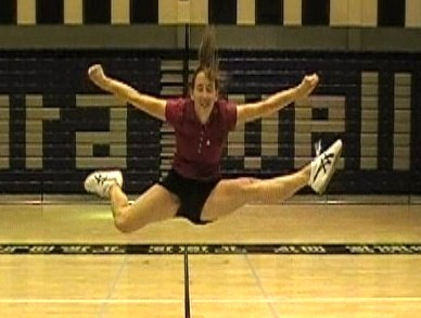 Side Hurdler Cheerleading Jump