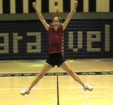 Spread Eagle Cheerleading Jump